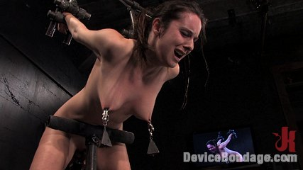 Winter skybrlocal girl next door trapped inbr a inhuman metal stappado. Hot girl next door, gets bound, stripped, clamped and made to cum.