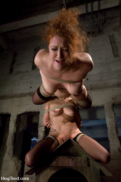 Rain & Sabrina, two fucking bondage whores