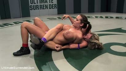 Two big titted blonds catfight, winner fucked the helpless loser.