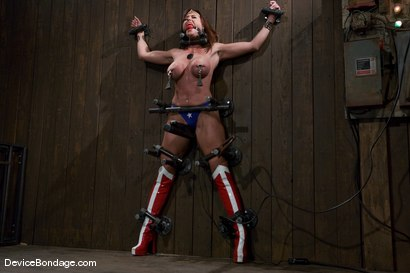 Wonder Women, captured, bound and put in an orgasm trap!<br>-Countdown to Relaunch - 8 of 20