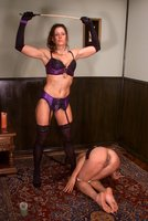 Kym Wilde dominates a local girl, Shawna Lesser.