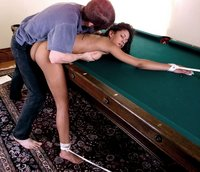 Pool table rope tricks.