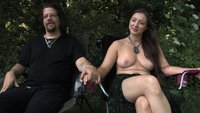 Hot Sun + Hot Woman + Hot Bondage = orgasm
