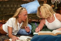 Kylie and Summer Storm get together to do homework.