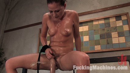 Sindee jennings  bound and sopping in cumshot. Sindee Jennings machine fucked, squirts cumshot everywhere, gets pounded in the butt but a robot
