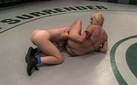 Real non-scripted nude wrestling ends in an injury.