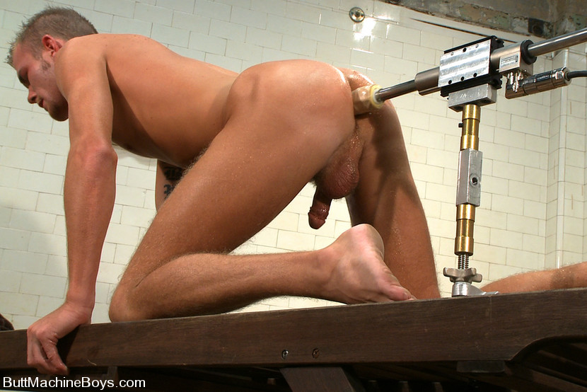 fucking dildo Man machine using