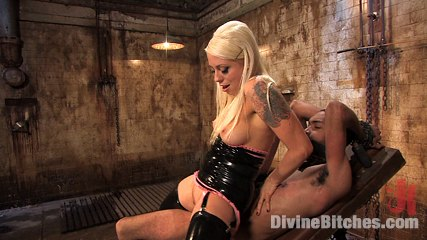 Fresh meat episode 1 tease and denial. Evil mistress rides slaveboy's cock till he begs to give suck his load then completely denies him!