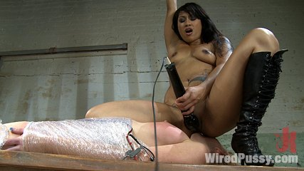 Dragonlily and her catch marie mccray. Hot Asian dom fucks new girl with electricity, making her cumshot from being shocked. vagina licking, nipple clamps and orgasms are demanded.