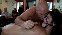 Mark takes a BDSM newbie to the local kinky cafe for a lesson in public sex and humiliation!