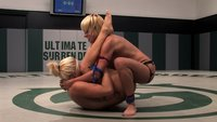 Two hot tanned blonds, fight, loser gets fucked hard in the ass! Non-scripted action!