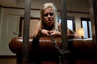Tax collector bitch punished and fucked with huge strapon.
