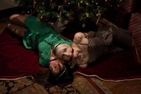 Two frightened cute sluts tied and sexually dominated for Christmas.