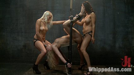 Plaything hollie stevens. Juicy anally slut sexually used by sadistic lesbians in bondage.