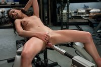 Amateur college student gets machine fucked deep for the first time - she cums while riding cock in the seated position and on the sybian.