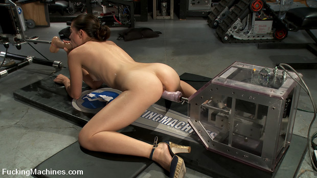 Amateur girl has life time first ever multiple orgasms from machine fucking and mechanical cock - she is pussy fucked speechless!