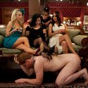 6 hot dominant girls demand worship and sexual service by three lucky slaveboys