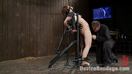Charlotte valebras honest and real as a girl gets. Real Girl next door gets bound in metal device bondage, choked and made to cum!