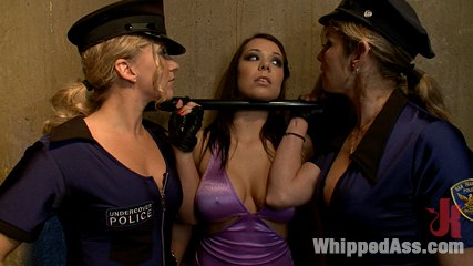 Bitch cops. Hooker gets rough bondage sex from two sapphic bitch