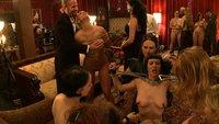 Big Tits party sex slaves serve huge breasts