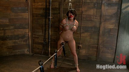 Real large natural tits real large orgasms. Big titted Charley Chase is rope-bound, fuck and squirting all over.