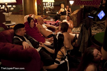 Kinky sex slaves serve brunch on the Upper Floor