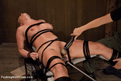 Harmony Rose, in her final FuckingMachines shoot - she's tied, spread, whipped, made to do math on the Sybian and fucked hard until she begs for mercy