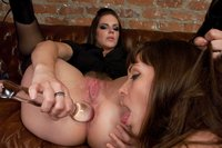 Two escorts play with anal toys and get ass fucked!