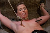 Scene 2 of the April Live Hogtied show, With Ariel X and Isis Love.  WHIP, TICKLE, CANE, SQUIRT. Rinse and repeat...
