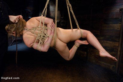 Petite Young Jessie Cox Bound in Piledriver and Suspended