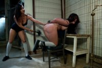 New female prisoner is made into a hot lesbian fuck toy by head bitch, Isis Love in prison.