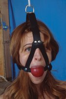 All-natural D-Cup Anna bound and gagged.