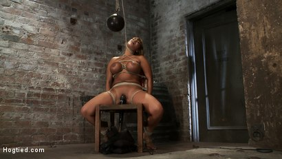 Classic-Hogtied-Big-Titted-MILF-in-the-chair-Orgasm-after-Orgasm-no-Mercy