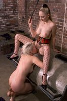 Lorelei takes intense pain from Chanta, tickle, bound, strapon