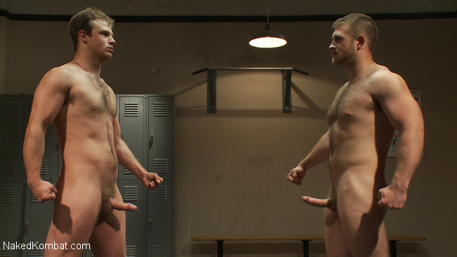 Naked Kombat - Paul Wagner - James Gates - Muscled hunks duke it out in the gym, loser takes it in the ass! #1