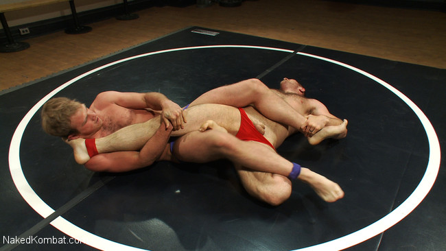Naked Kombat - Paul Wagner - James Gates - Muscled hunks duke it out in the gym, loser takes it in the ass! #2
