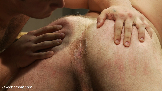 Naked Kombat - Paul Wagner - James Gates - Muscled hunks duke it out in the gym, loser takes it in the ass! #15