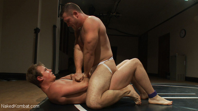 Naked Kombat - Paul Wagner - James Gates - Muscled hunks duke it out in the gym, loser takes it in the ass! #5