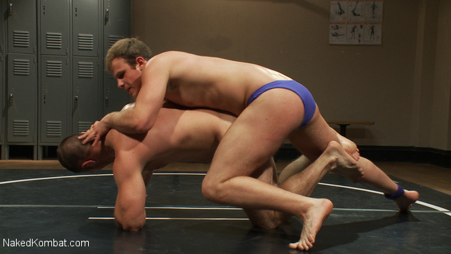 Naked Kombat - Paul Wagner - James Gates - Muscled hunks duke it out in the gym, loser takes it in the ass! #6