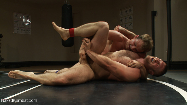 Naked Kombat - Paul Wagner - James Gates - Muscled hunks duke it out in the gym, loser takes it in the ass! #8