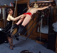 Mistress Kira has her way with Eve.