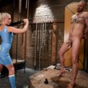 Divine girl Lorelei Lee fucking slaveboy's butthole deeply with gigantic strapon dick