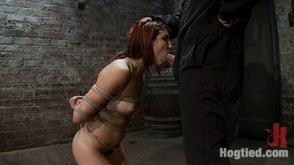 19yr old is bound and left in sub basementbrsoon this prostitute will be on her knees choking on cock. 19yr old is bound and left in sub basement.  Held in place by tight crotch rope.  Soon this little bondage prostitute will be on her knees choking on cock!