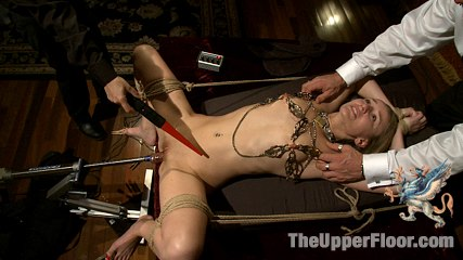 House supper and slave initiation. Hot sex slave initiated in a sexual rite of passage