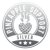 Pineapple Support Badge