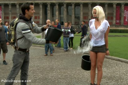 Photo number 4 from BEST OF EUROPE: Beautiful German Milf Bound and Fucked in Public shot for Public Disgrace on Kink.com. Featuring Steve Holmes and Sophie Logan in hardcore BDSM & Fetish porn.