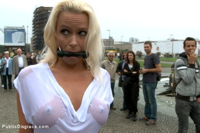 Photo number 3 from BEST OF EUROPE: Beautiful German Milf Bound and Fucked in Public shot for Public Disgrace on Kink.com. Featuring Steve Holmes and Sophie Logan in hardcore BDSM & Fetish porn.