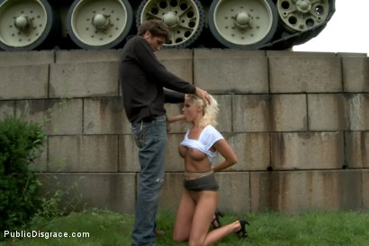 Photo number 6 from BEST OF EUROPE: Beautiful German Milf Bound and Fucked in Public shot for Public Disgrace on Kink.com. Featuring Steve Holmes and Sophie Logan in hardcore BDSM & Fetish porn.
