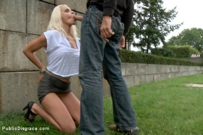 Photo number 8 from BEST OF EUROPE: Beautiful German Milf Bound and Fucked in Public shot for Public Disgrace on Kink.com. Featuring Steve Holmes and Sophie Logan in hardcore BDSM & Fetish porn.