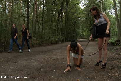 Photo number 5 from Dogging shot for Public Disgrace on Kink.com. Featuring Tommy Pistol and Bijou in hardcore BDSM & Fetish porn.